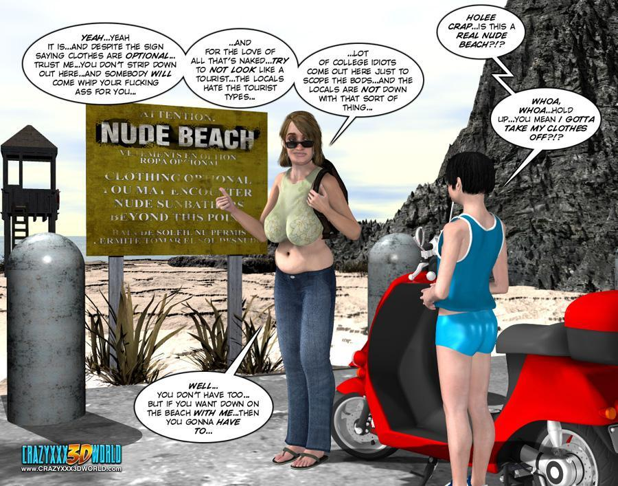 Crazy xxx 3d world nude beach are